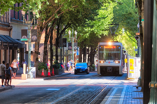 Scion Staffing Portland Max train downtown